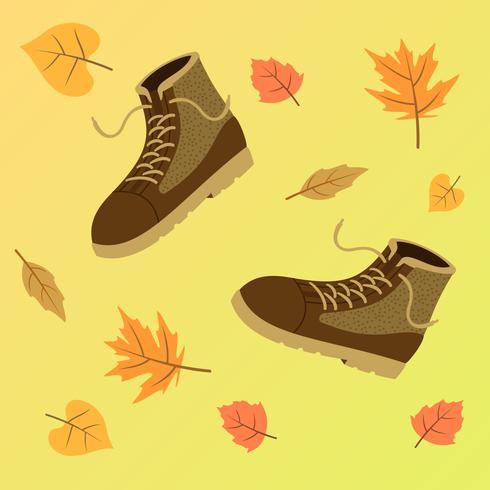 Fall Boots For Men Vector