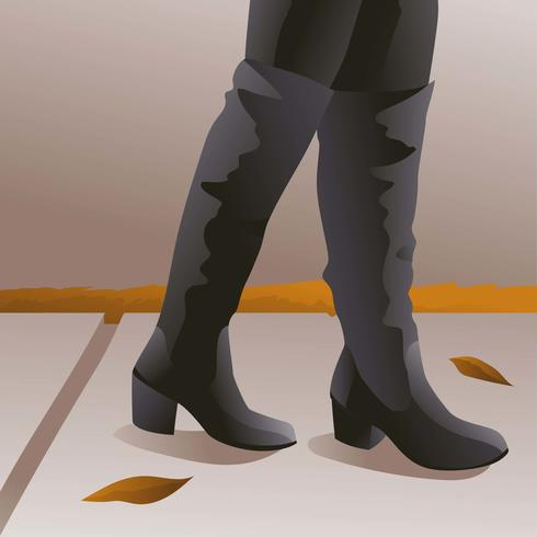 Fall Boots High Black Leather