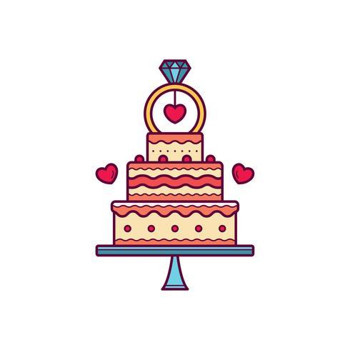 Vecteur de gâteau de mariage