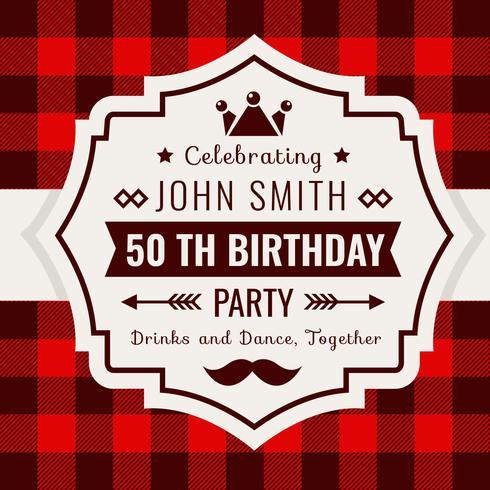 Geburtstags-Einladung Buffalo Plaid Style