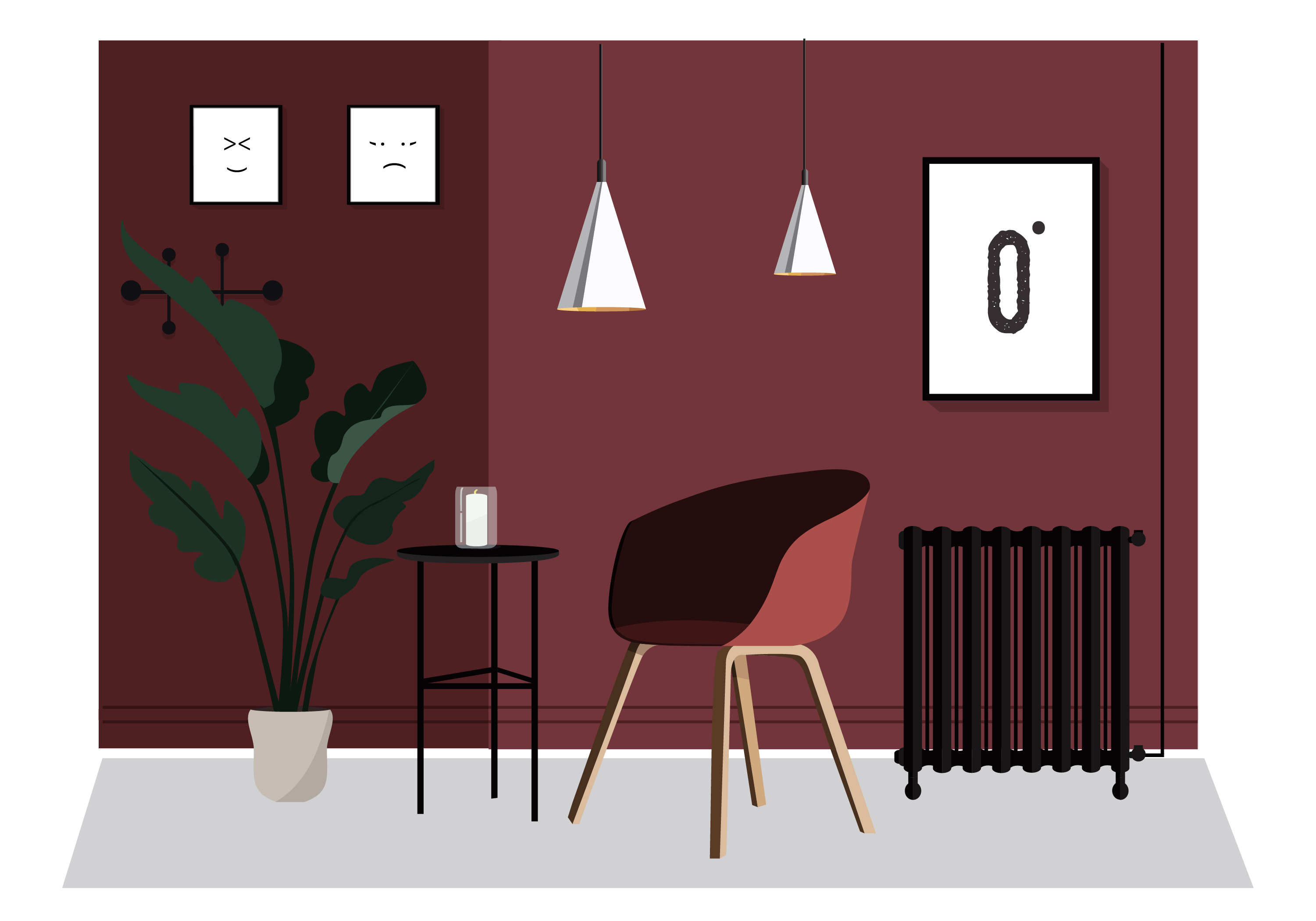 Vector Room And Furniture Illustration   Download Free Vector Art, Stock  Graphics U0026 Images