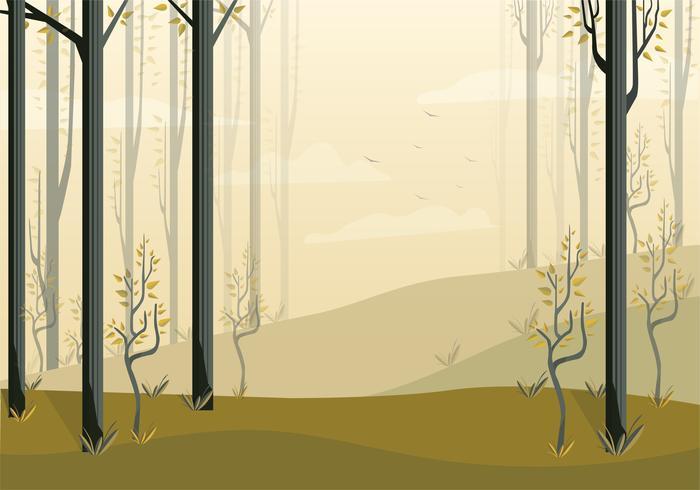 Vektor-schöne Landschaftsillustration