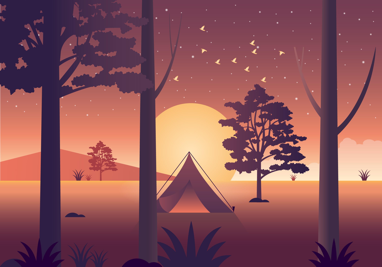 Vector Beautiful Nature Illustration Download Free