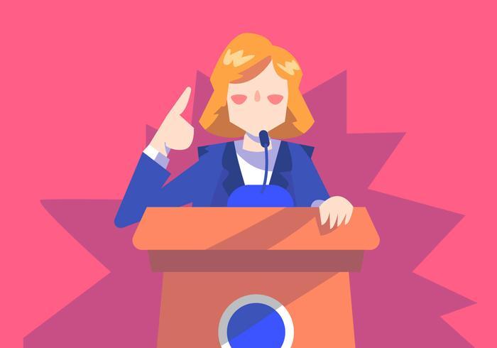 Elección de mujeres vector