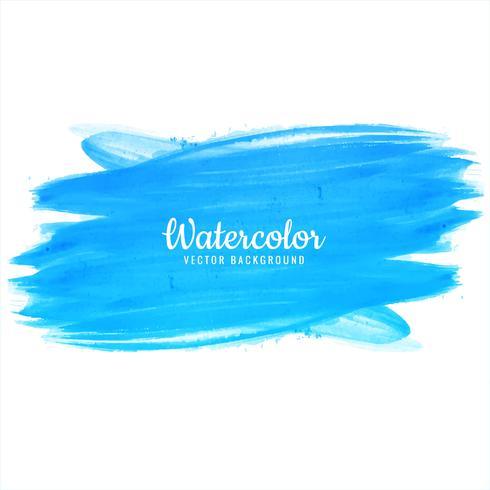 Modern watercolor blue stroke background