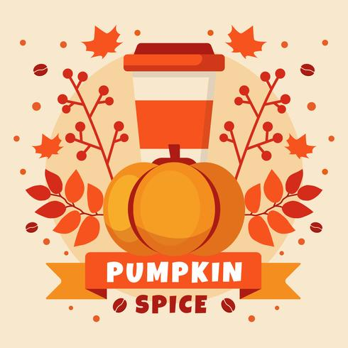 Pumpkin Spice Compotition Illustratie