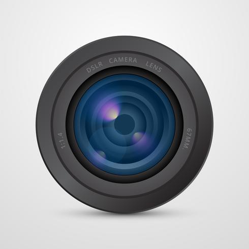 Realistische DSLR cameralens vector
