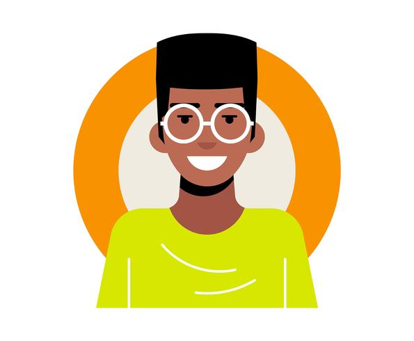 Pojke med glasögon