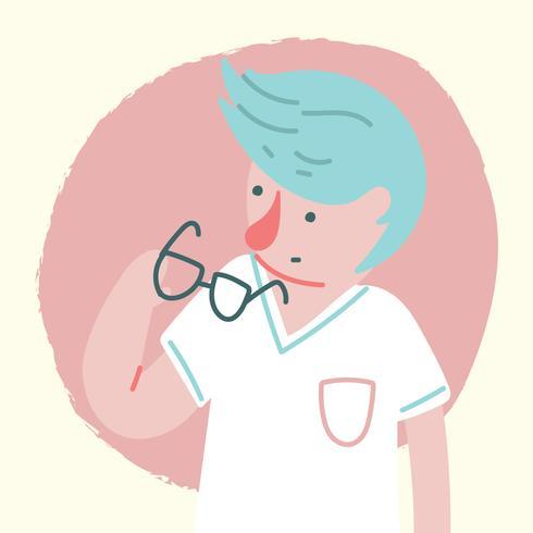 Leuke jongen met een bril