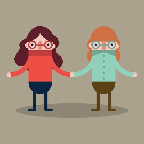 Schwestern mit Brille vektor