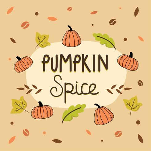 Pompoen Spice Illustratie