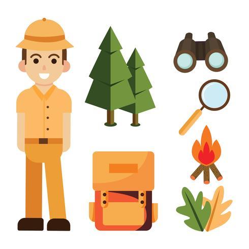 Dschungel Explorer Elemente Vektor Pack