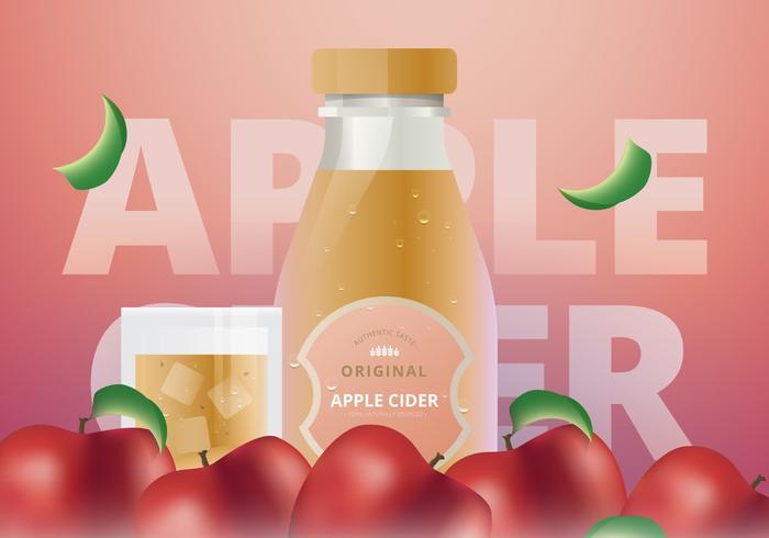 Bevanda rinfrescante di energia della melma del sidro di Apple