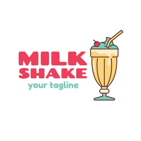 Milchshake Logo Vektor