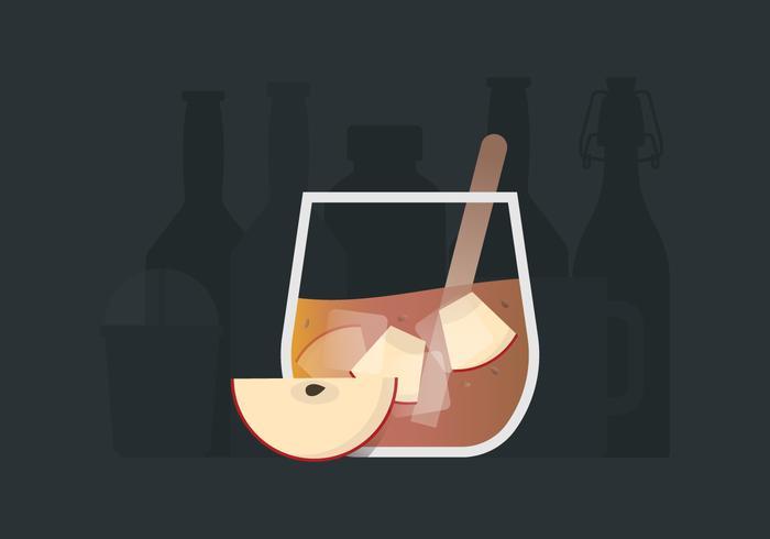 Apfel Cider Slush Erfrischendes Energy Drink vektor