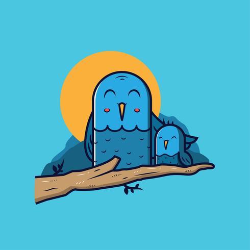 Animal mom and baby vector