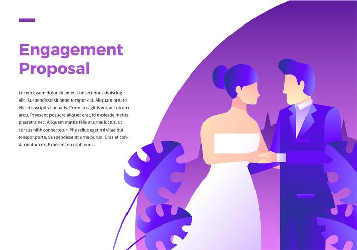 Engagement Vorschlag Hochzeit vektor