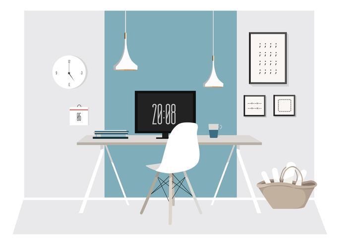 Vector Desk's Desk Illustration
