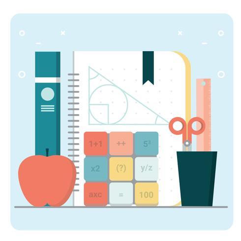 Vecteur Retour aux accessoires scolaires