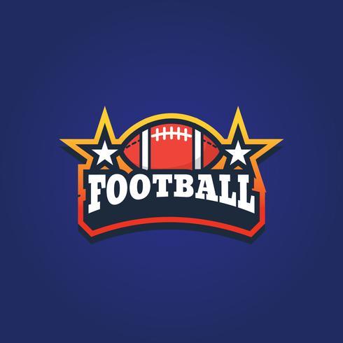Emblema de esporte de futebol americano