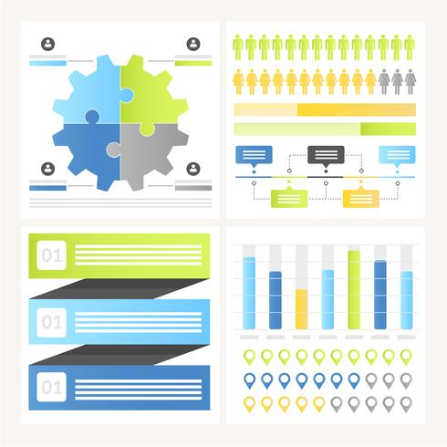 Vector infografía elementos y la ilustración