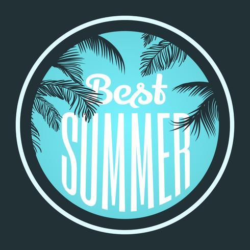 Typografisch zomerontwerp