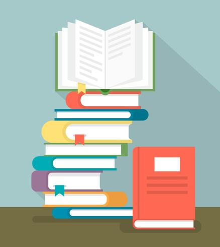 book stack download free vector art stock graphics images