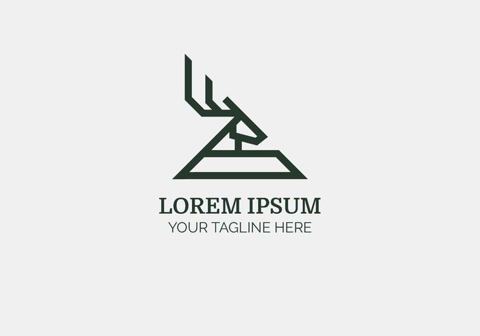 Illustration vectorielle de logo de tête de cerf