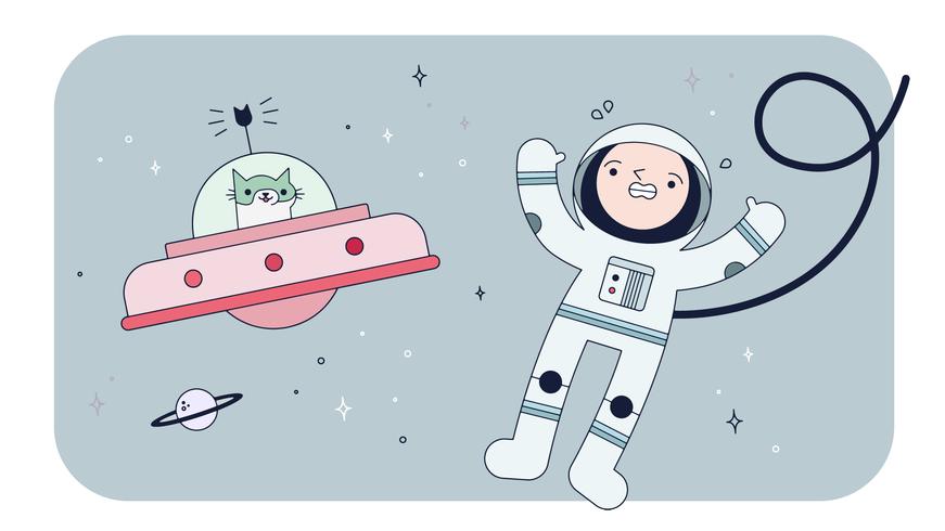 Space Cat Vector