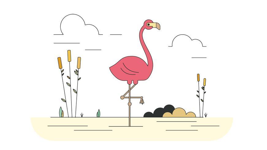 Roze Flamingo Vector