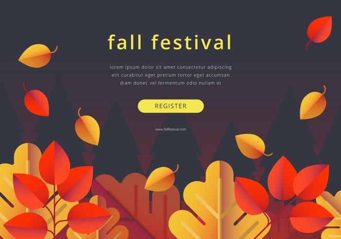 Plantilla de borde colorido de Festival de otoño vector