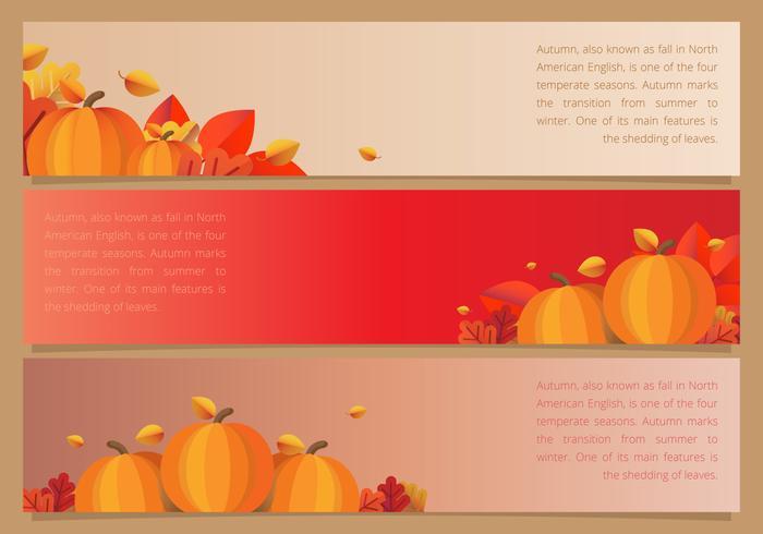 Fall Festival evento sazonal Web cabeçalho ilustração