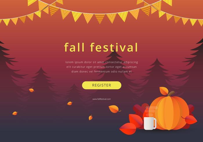 Fall-Festival-Saisonereignis-Illustration