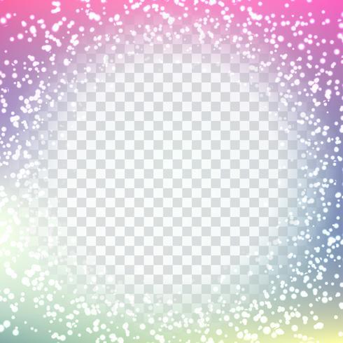 Abstraktes modernes funkelndes Design auf transparentem Hintergrund vektor