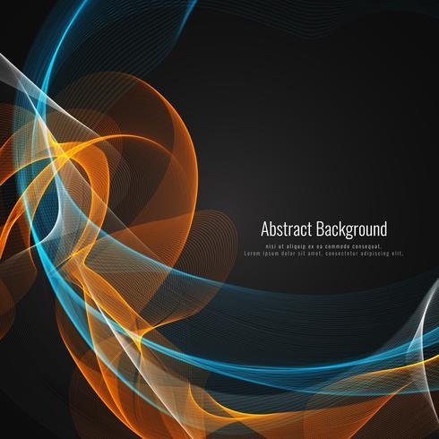 Design de fond abstrait vague colorée lumineuse