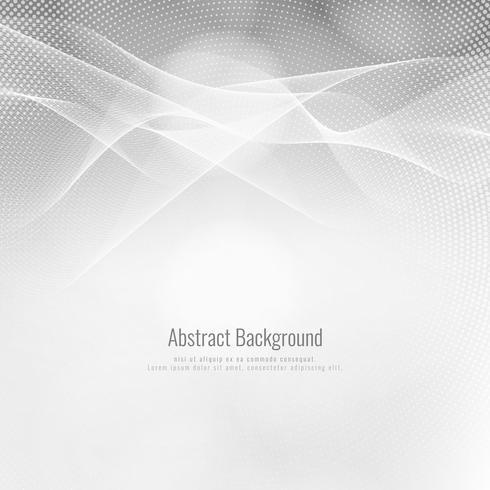Fondo de onda de color gris elegante abstracto vector