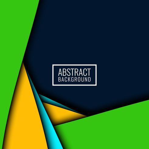 Abstrait coloré papercut moderne
