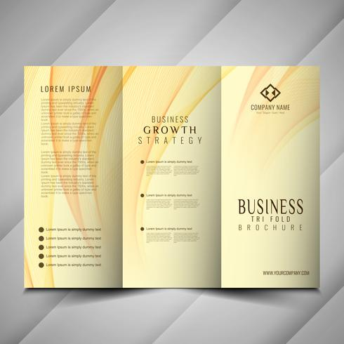 Abstract modern wavy Trifold brochure template