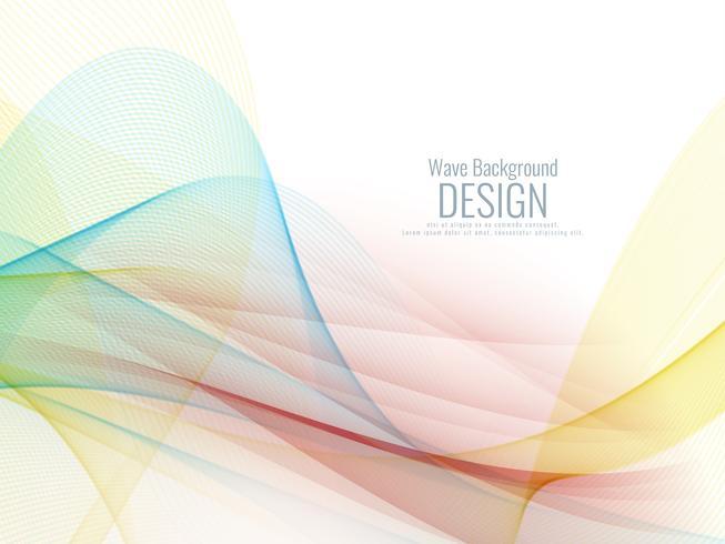 Abstracte stijlvolle kleurrijke golf ontwerp achtergrond