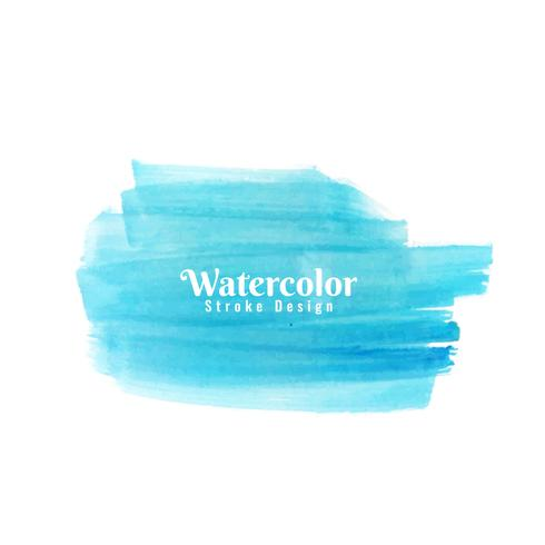 Abstract blue watercolor stroke background
