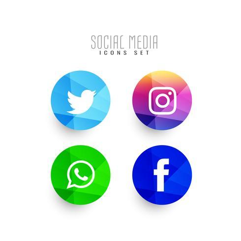 Sammanfattning moderna sociala medier ikoner uppsättning