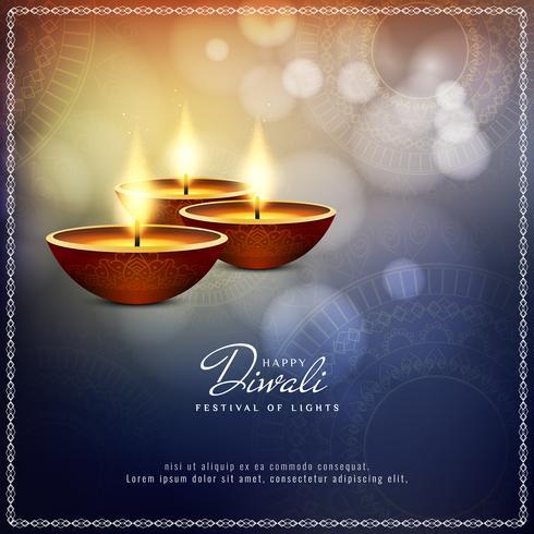 Fundo religioso feliz abstrato de Diwali vetor