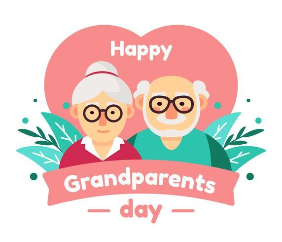 Vector de feliz día de los abuelos