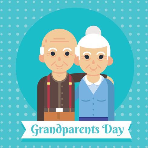 Farföräldrar Dag Vector Design