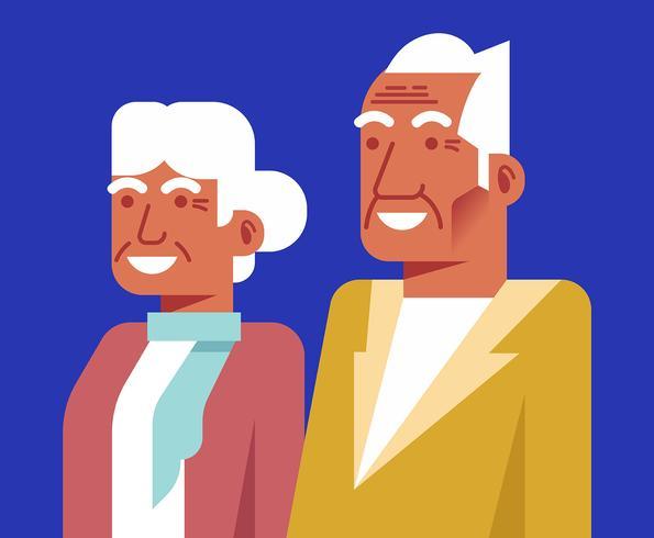 Ilustración de abuelos