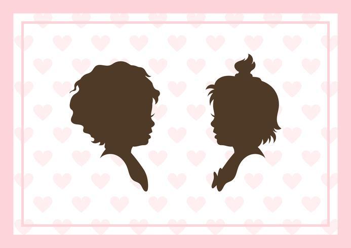 Kinderen silhouetten illustratie