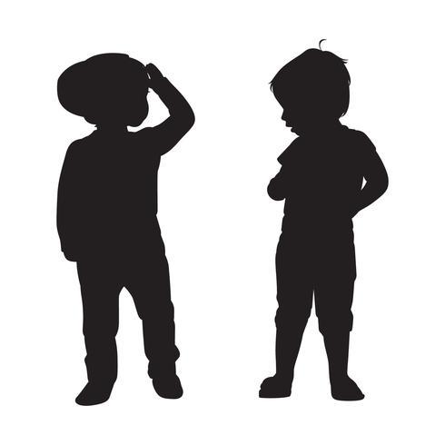 barn silhuetter