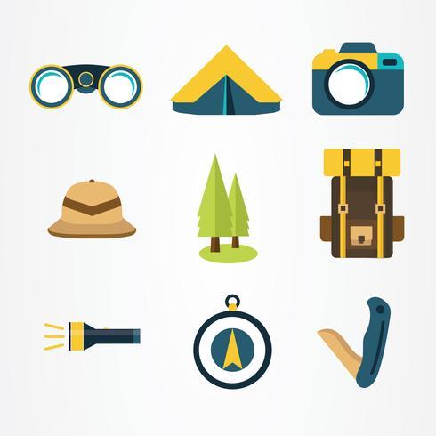 pacchetto di elementi jungle explorer vector