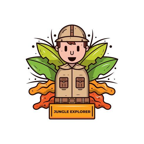 Dschungel-Forscher-Vektor