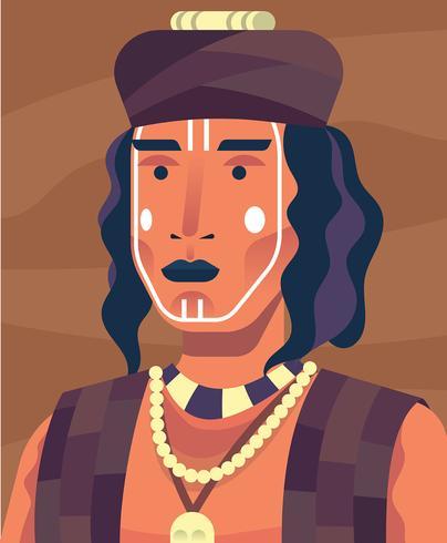 Indigene Menschen Illustration